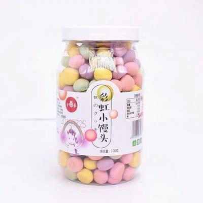 01小曲家彩虹小馒头韧性饼干彩色多口味儿童饼干零食