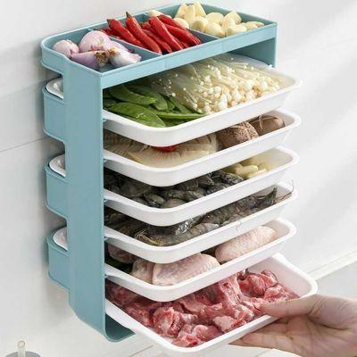 家用厨房悬挂置物架壁挂式备菜盘免打孔配菜盘火锅烧烤餐具配菜盘