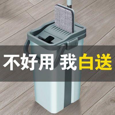 免手洗拖把家用刮刮乐拖把桶一拖净懒人平板加厚刮刮乐拖地神器