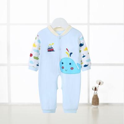 男女宝宝连体衣服婴儿睡袋夏季薄款纯棉新生儿哈衣睡衣爬服外出