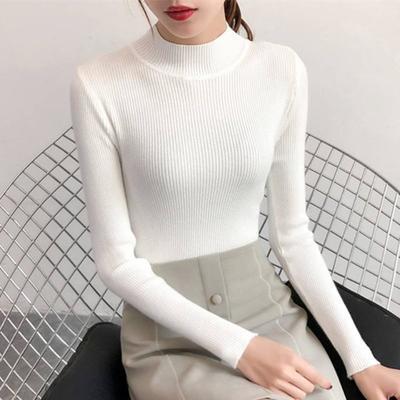 秋冬半高领毛衣打底衫针织衫女学生内搭长袖百搭上衣