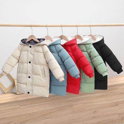 新款儿童棉服中长款男童女童宝宝加厚棉袄中大童棉衣冬季外套反季