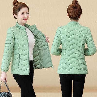 63726/羽绒棉服女短款2021最新款短装轻薄款修身棉衣大码洋气小棉袄外套