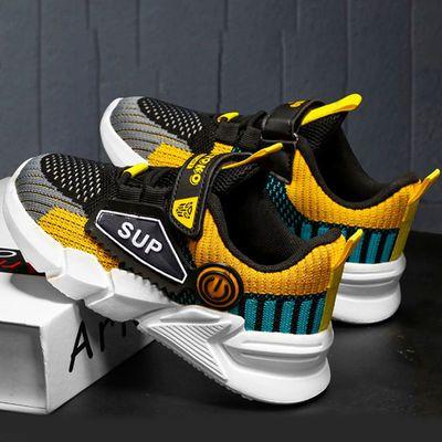 74725/童鞋男童运动鞋2021年秋季新款双网儿童椰子鞋男中大童飞织休闲鞋