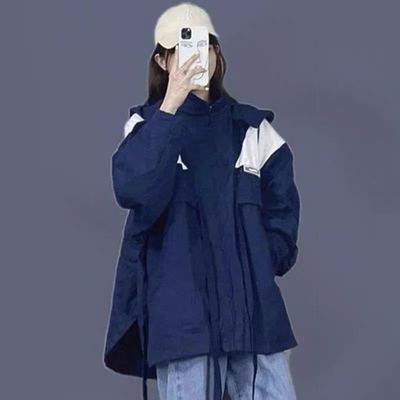62326/秋季新款可盐可甜酷女孩穿搭男友风炸街潮牌外套配牛仔裤两件套装