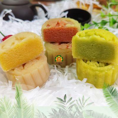 中秋广式月饼蓉沙多口味抹茶酸奶桂花散装团购批发糕点点心零食
