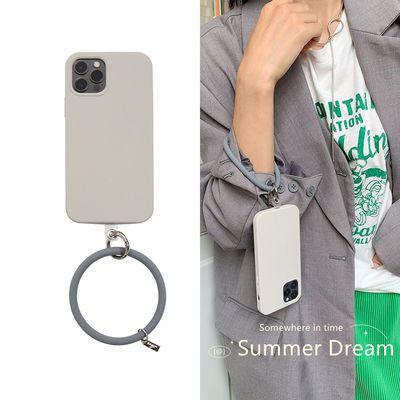 75646/韩风苹果12promax手机壳xr防摔圆环x/xs液态硅胶iPhone11软壳爆款