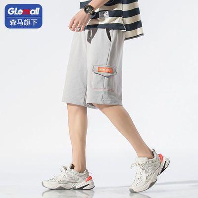 森马旗下GleMall2021新款夏季直筒工装运动休闲潮流潮牌男装短裤