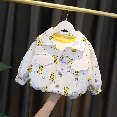 76082/男童秋装外套春秋款2021秋季新款童装儿童夹克衫洋气宝宝牛仔衣潮