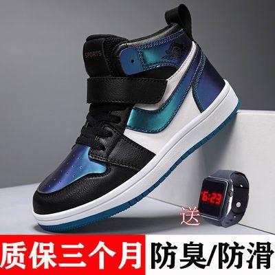 75876/ABC男童鞋AJ儿童运动鞋2021秋季新款中大童篮球鞋女童高帮板鞋潮