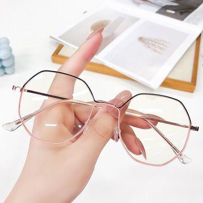 近视眼镜女有度数学生潮韩版网红款圆框眼镜框防蓝光辐射平光镜男