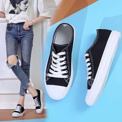 帆布鞋女2021年春秋季低帮鞋学生休闲运动鞋韩版潮流时尚跑步鞋