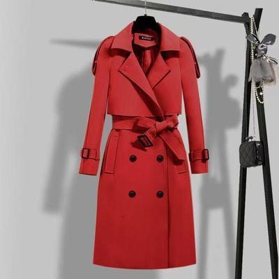 61272/风衣女中长款2021春季新款韩版修身收腰显瘦高端大气女士春秋外套