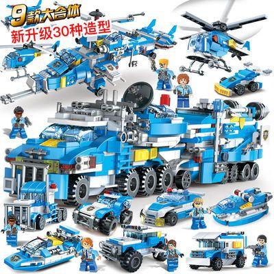 手工diy兼容乐高积木拼装益智玩具男警察故事系列变形金刚机器人