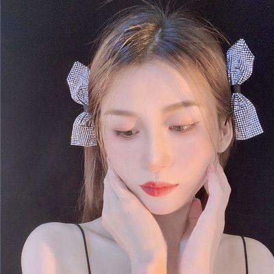 新款网红ins可爱少女超仙韩版高档测边发夹头顶气质简约水钻碎发