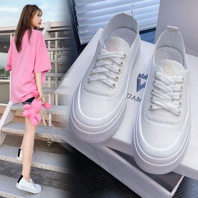 62172/小白鞋2021新款秋季新疆棉花基础百搭女鞋平底学生鞋子运动板鞋潮
