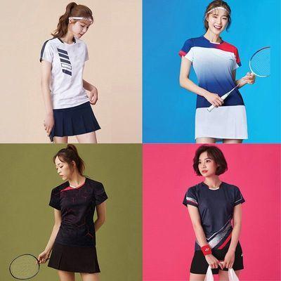 70245/新款羽毛球服男女情侣运动套装透气速干乒乓球短袖短裤定制比赛服