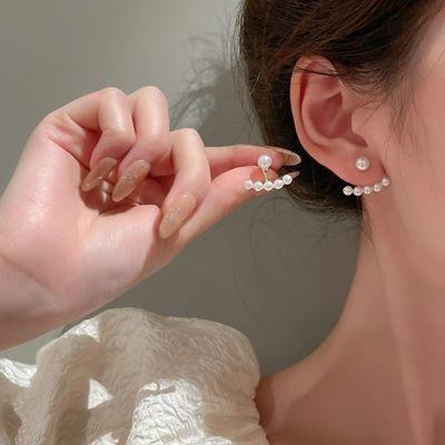 69496/【2021新款】珍珠耳钉一款两戴简约女耳环网红耳饰925银