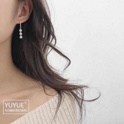 65146/珍珠纯银针耳钉韩国风设计感耳环2021新款潮简约小巧气质耳饰品女