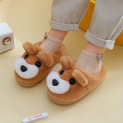 儿童棉拖鞋男女童可爱卡通室内家居防滑宝宝小孩冬季保暖毛绒棉拖