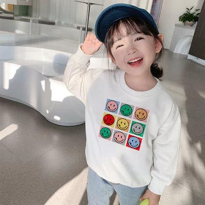 女童卫衣韩版超洋气2021新款春秋装男宝宝大中小儿童含棉长袖卫衣