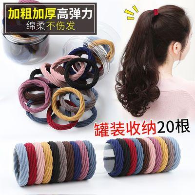 65837/皮筋女扎头成人发圈不伤头发简单简约粗皮筋韩版高弹力耐用高马尾