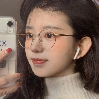 78792/秀智卡琳同款平光眼镜女学生韩版配近视小圆框潮流眼睛框配有度数