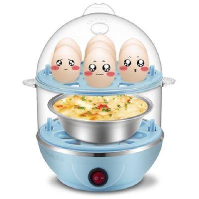 72824/优益Q1双层煮蛋器 蒸蛋器迷你 多功能小型煮鸡蛋羹自动断电家用
