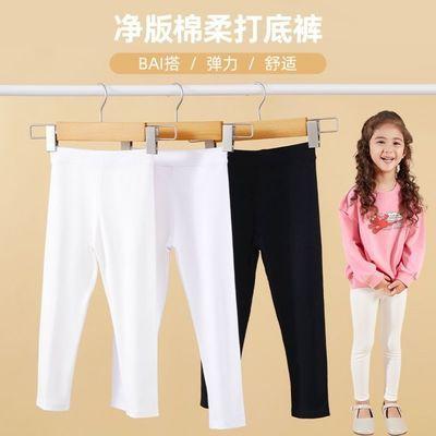 华纳童装女童黑色铅笔裤2021新款儿童外穿裤子洋气纯棉休闲裤