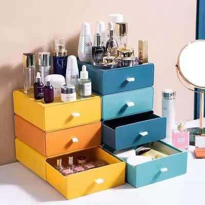 71606/桌面收纳盒办公室厨房卫生间家用多功能抽屉式收纳盒化妆品首饰盒