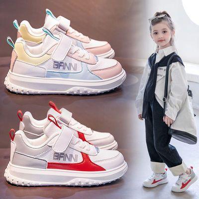 93386/班妮宝贝女童鞋子2021秋冬新款加绒二棉鞋百搭小白鞋中大童运动鞋