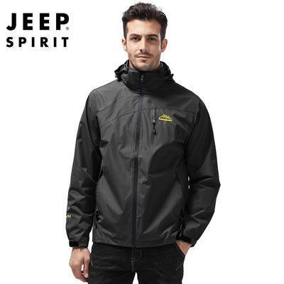 JEEP吉普冲锋衣夹克外套新款户外防水防风耐磨透气运动外套情侣装