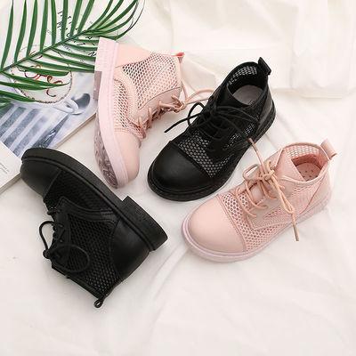 儿童短靴韩版马丁靴潮鞋镂空凉鞋男女童透气网面鞋2021夏季新款