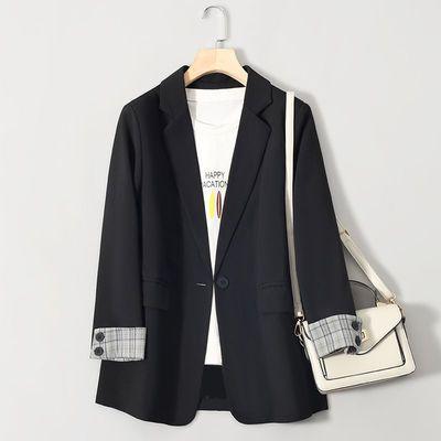 黑色小西装外套女上衣2021春秋新款网红时尚气质休闲西服英伦风