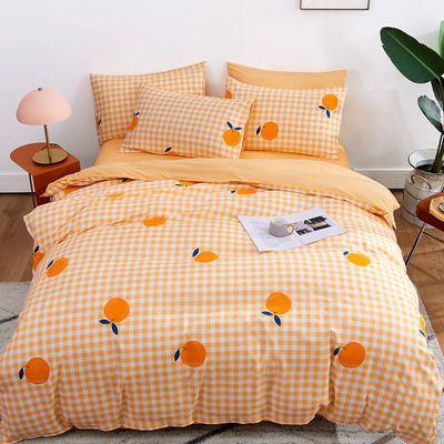网红款四件套床单被套磨毛夏季学生 宿舍三件套单人双人床上用品