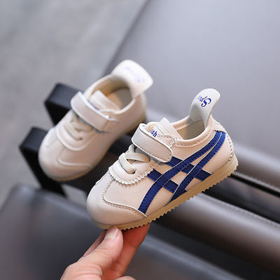 78719/春秋季新款条纹儿童阿甘鞋透气网布婴儿学步鞋女童运动鞋男童板鞋