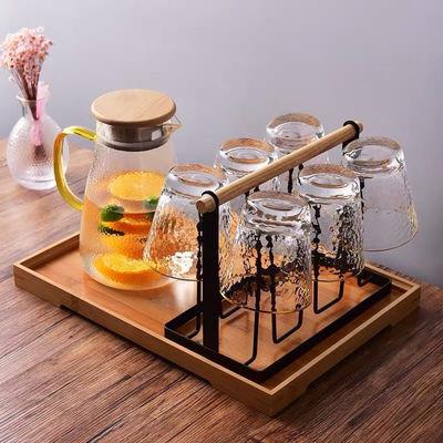 77376/沥水杯架家用倒挂玻璃杯架茶酒杯架客厅放杯子收纳架子创意杯托盘