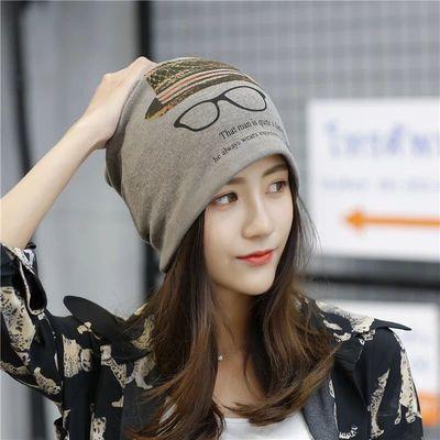 75509/秋冬围脖围巾帽子百搭脖套韩版包头帽多功能头套面罩扭扭帽月子帽