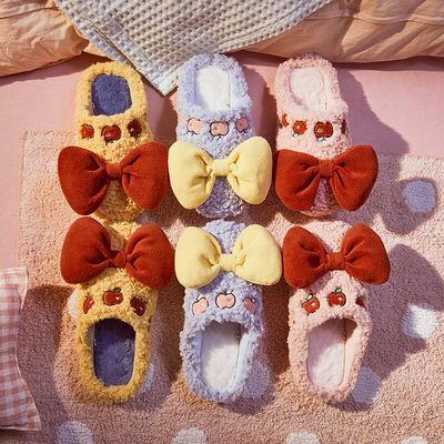 65792/Gukoo/果壳拖鞋女棉女包跟拖鞋女冬拖鞋家用秋冬毛毛拖鞋月子鞋
