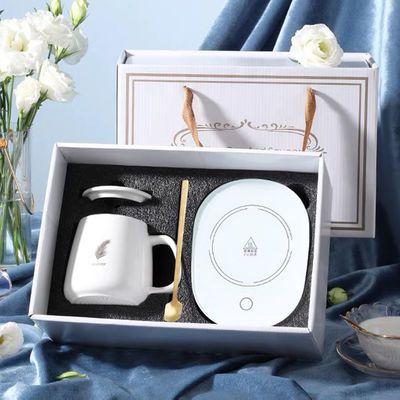 轻奢款55度智能恒温暖暖杯礼盒加热杯垫家用办公室牛奶咖啡保温碟