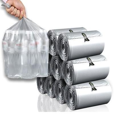 68603/植护大垃圾袋110只单卷一次性日用家居平口塑料袋垃圾袋加厚批发