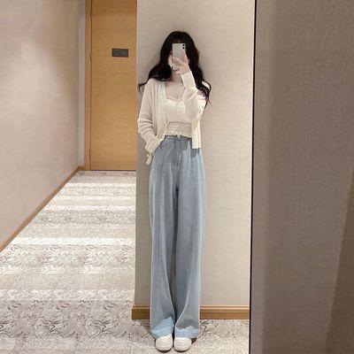 78935/2021早秋原创洋气蕾丝吊带美背性感外穿内搭披风外套阔腿裤三件套