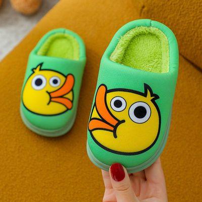 儿童棉鞋卡通可爱家居室内男女童秋冬新款防滑保暖加绒宝宝棉拖鞋