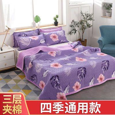 三层夹棉床盖四季通用多功能床盖榻榻米垫子床单双人防滑双面盖毯【9月15日发完】