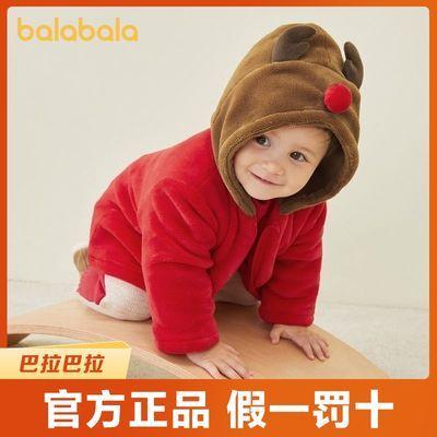 巴拉巴拉宝宝冬季棉袄儿童棉服婴儿棉衣加厚加绒冬装卡通