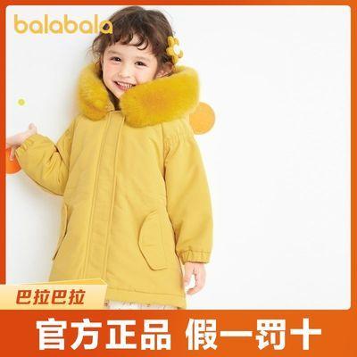 巴拉巴拉童装儿童棉衣宝宝小童秋冬棉服洋气女童毛领时尚