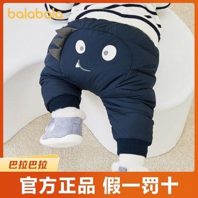 巴拉巴拉婴儿裤子宝宝羽绒裤儿童休闲裤男童裤外穿女童运动裤保暖