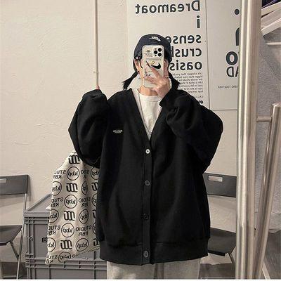 75134/2021春秋新款网红韩版宽松薄款外套女开衫百搭棒球服纯色条绒衬衫