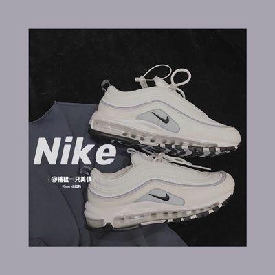 74087/正品新款MAx97淡紫色蓝紫香芋紫子弹头男女情侣低帮运动鞋气垫鞋