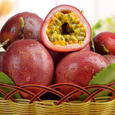 云南百香果大果孕妇水果新鲜紫皮白百果新鲜西番莲酱浆汁石榴果